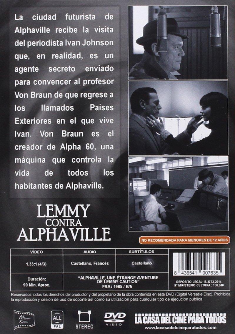 Lemmy Contra Alphaville [DVD]: Amazon.es: Eddie Constantine, Anna Karina, Akim Tamiroff, Jean-Luc Godard: Cine y Series TV