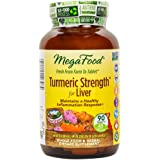 MegaFood - Turmeric Strength for Liver, Curcumin Support for a Healthy Liver, 90 Tablets (FFP)
