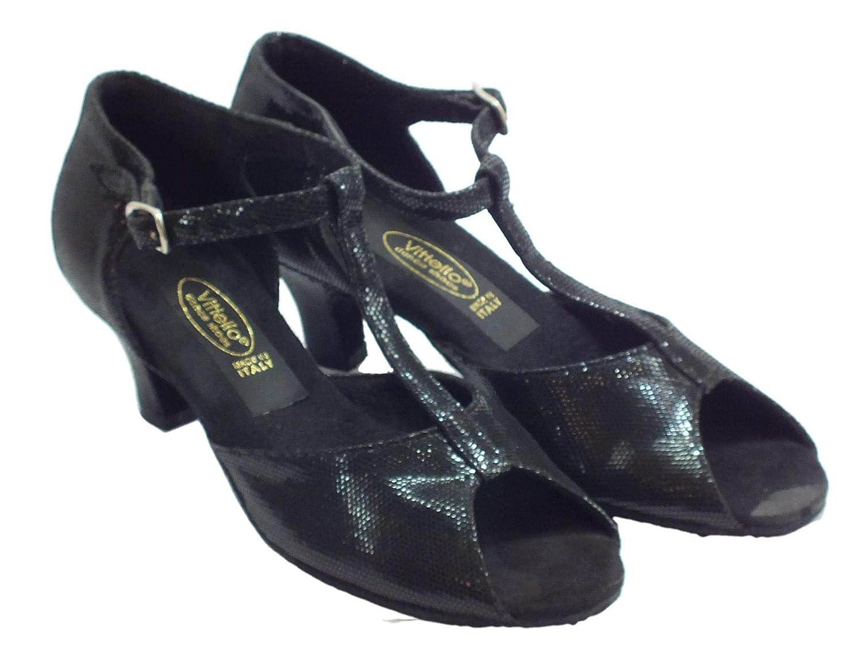 Vitiello Dance schuhe Sandalo L.a. Satinato schwarz schwarz schwarz 50r, Damen Tanzschuhe B01MSHGNN7 Tanzschuhe Schnäppchen a89751