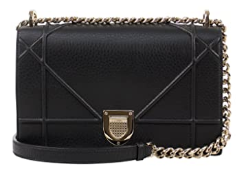Amazon.com  Christian Dior Diorama Black Pebbled Leather W ... 59aff36f06863