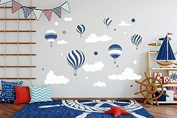 madras24 Stickers muraux pour Enfants Stickers Chambre b/éb/é Ballon Ballons Nuages Autocollant Chambre denfant d/écoration