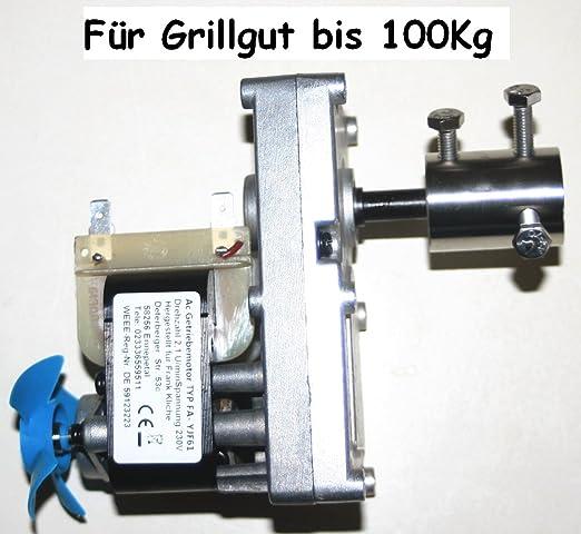 Barbacoa Motor de 230 V AC wechselstr Engranaje Motor 2, 1 U/min ...