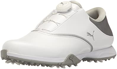 Puma Golf Women's Blaze Golf-Shoes, White Silver, 7 Medium US