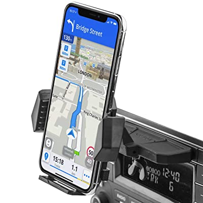 APPS2Car Sturdy CD Slot Phone Mount with One Hand Operation Design, Hands-Free Car Phone Holder Universally Compatible with All iPhone & Android Cell Phones, for Smartphone Mobile: Electronics