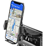 Sturdy CD Slot Phone Mount with One Hand Operation Design, APPS2Car Hands-Free Car Phone Holder Universally Compatible with A