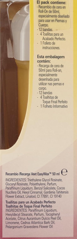Veet 4391830000 - Recarga de aceite Monoï para calentador de cera RollOn: Amazon.es: Belleza