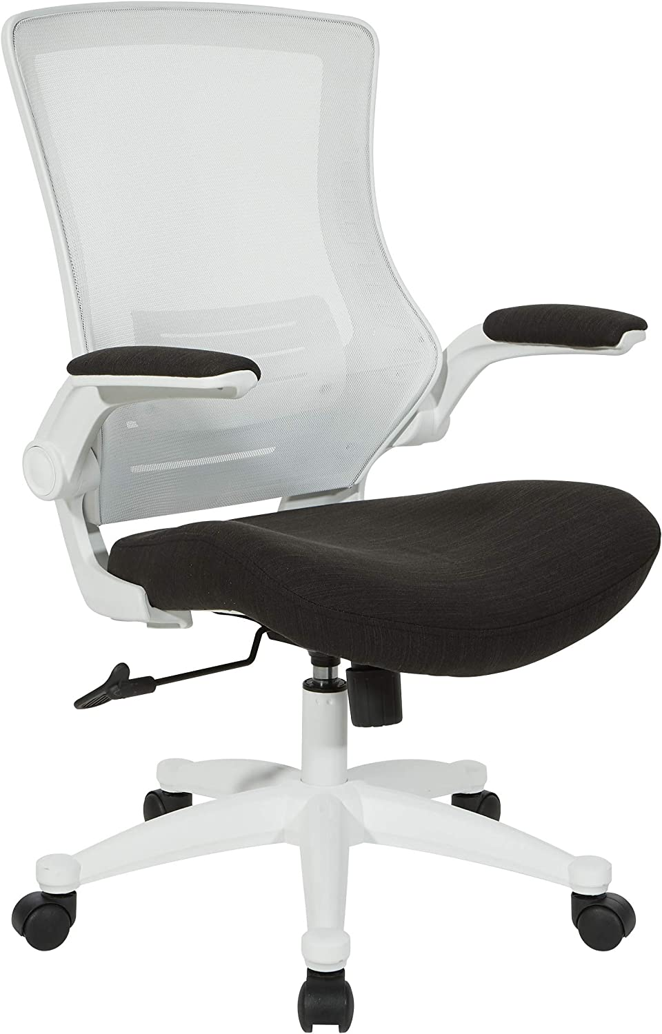 Office Star White Screen Back Manager's Chair, Linen Black