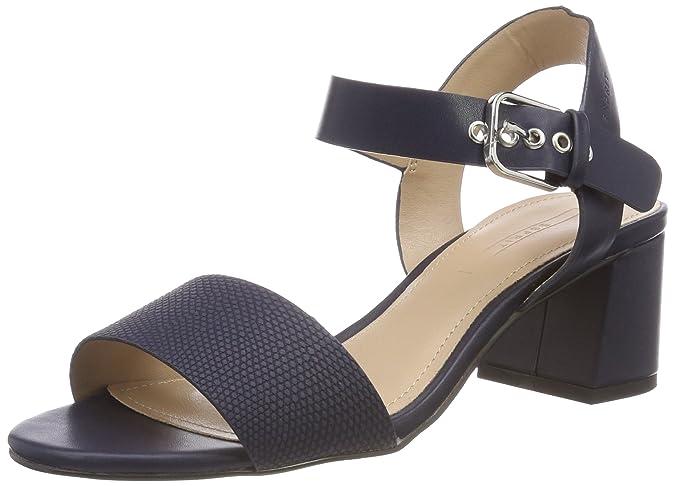 ESPRIT Adina Sandali con Cinturino alla Caviglia Donna Nero Black 36