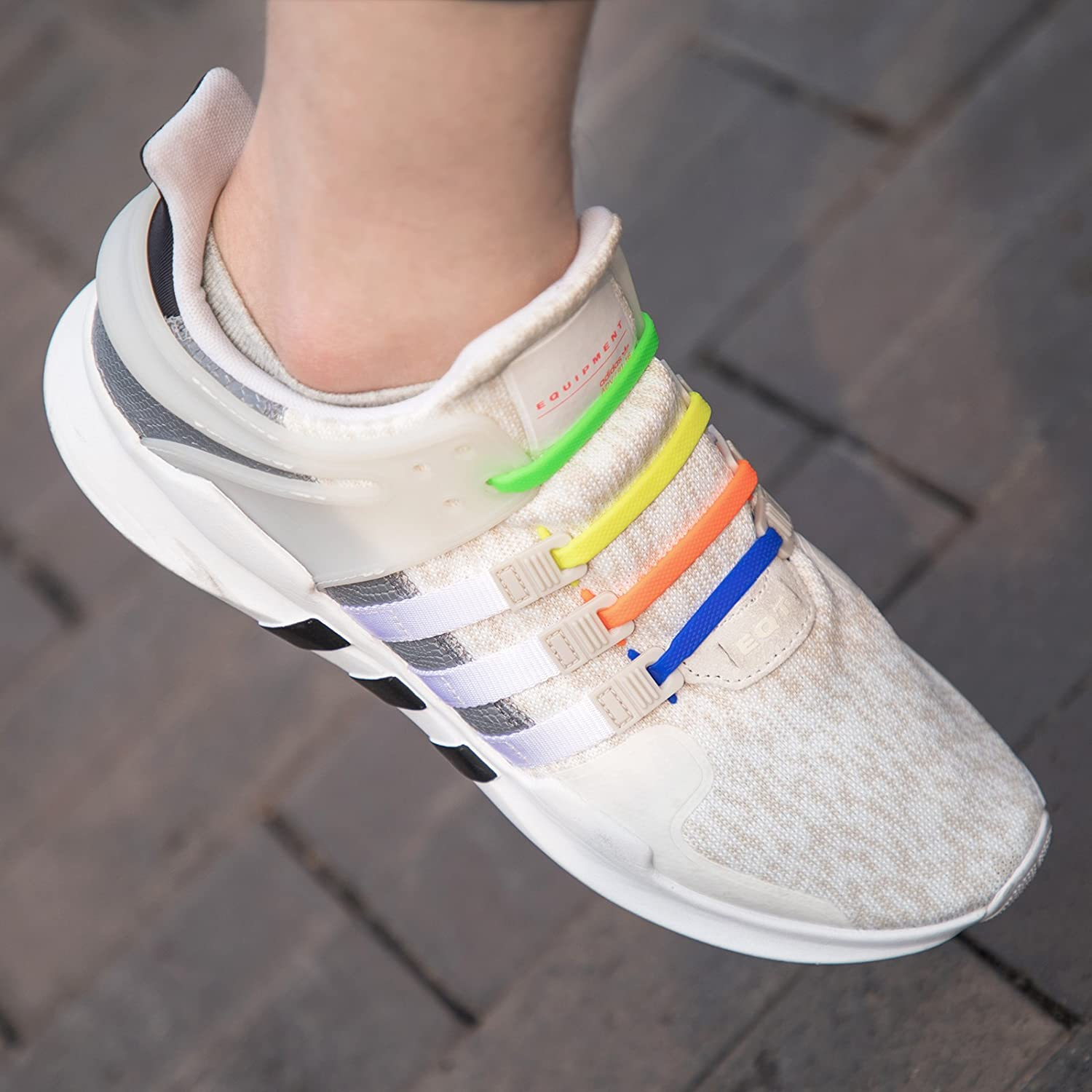 Silicone Tieless Laces Elastic Shoe Laces for Sneakers INMAKER No Tie Shoelaces for Kids and Adults
