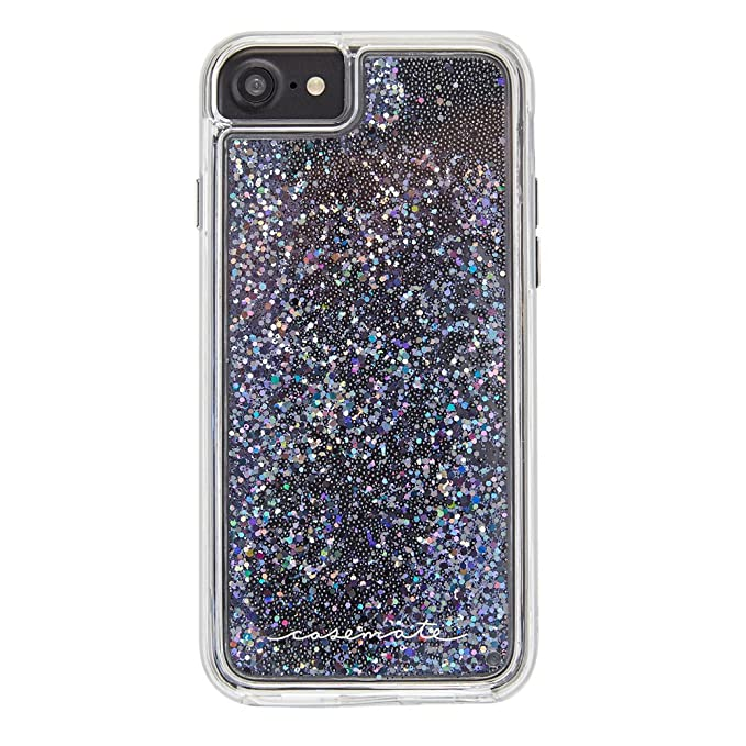 timeless design dc0af 22549 Case-Mate iPhone 8 Case - WATERFALL - Cascading Liquid Glitter - Protective  Design for Apple iPhone 8 - Black