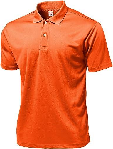 Wundou Mens Sports Dry Light Polo-Shirts P335?S?Burgundy