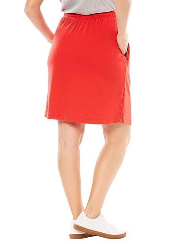 527856ca087 Amazon.com  Woman Within Plus Size Sport Knit Skort  Clothing