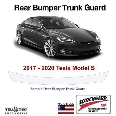 YelloPro Auto Tesla Model S Custom Fit 2020 2020 2020 2020 3M Scotchgard Pro Trunk Rear Bumper Edge Protector PPF Clear Bra Paint Anti Scratch Guard Self Healing Decal Sticker Cover Film Kit: Automotive
