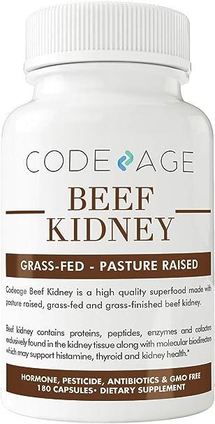 Amazon.com: codeage zacate Fed Beef riñón (alta en Selenio ...