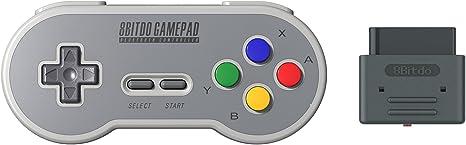 YIKESHU excelente 8Bitdo Controller funciona con Nintendo Switch, Wireless Bluetooth Controller Classic Nintendo Gamepad Joystick para Mac, dispositivos Android y Windows (TOY00019): Amazon.es: Videojuegos