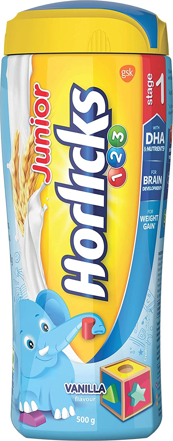 Buy Horlicks Junior Stage 1 Health And Nutrition Drink 500g 2 6 Years Vanilla Flavor Online At Low Prices In India Amazon In