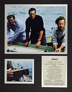 """Jaws 11"""" x 14"""" Unframed Matted Photo Collage by Legends Never Die, Inc"""