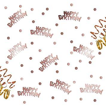 Oblique Unique Happy Birthday Geburtstag Konfetti Rosegold Mit