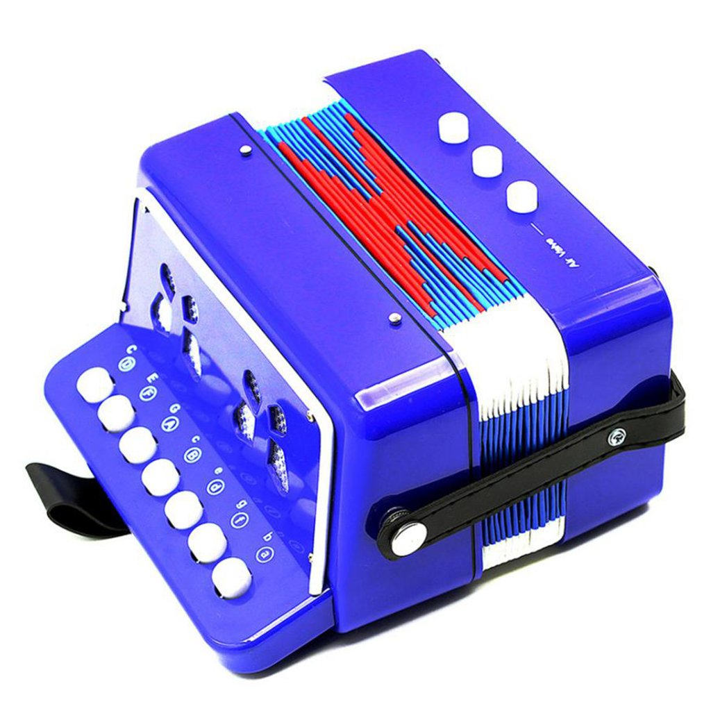 Almencla Kids Percussion Accordion Musical Toy Children Musical Instrument Blue by Almencla (Image #5)