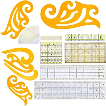 Yellow LoveinDIY 2 Pieces Cloud Shape French Curve Rulers for Sewing Pattern Design