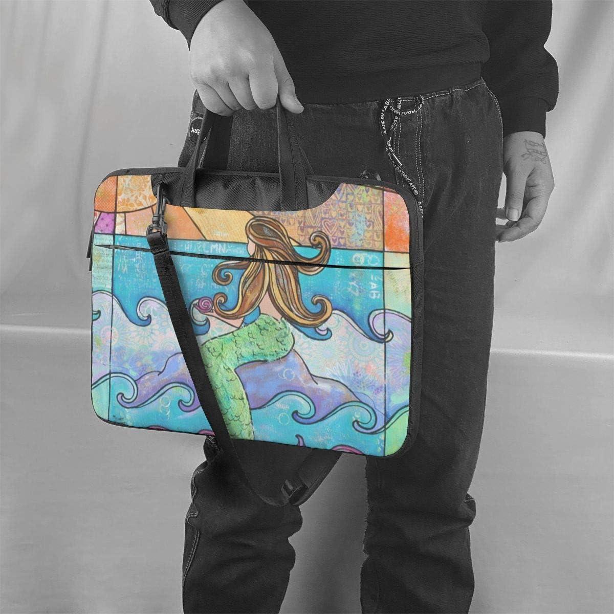 Colorful Blond Woman in Sunset Square Printed Laptop Shoulder Bag,Laptop case Handbag Business Messenger Bag Briefcase