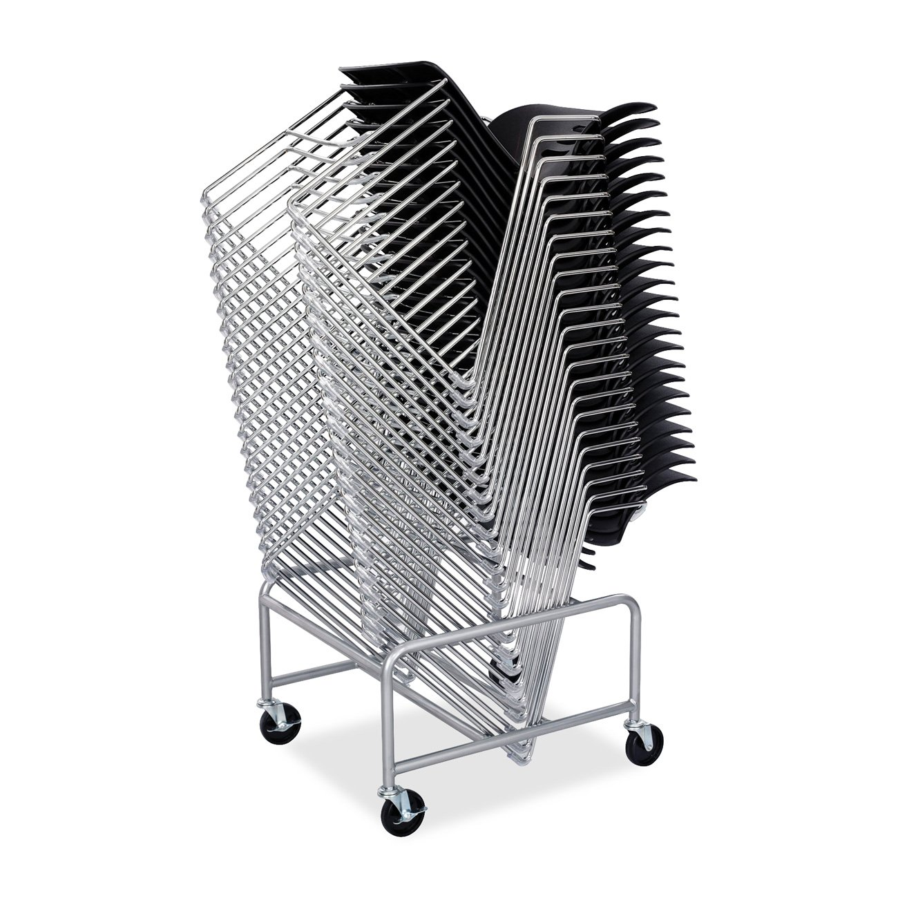 Safco Products 4190SL Sled Base Stack Chair Cart for use with Veer and Vy Stack Chairs. sold separately, Silver