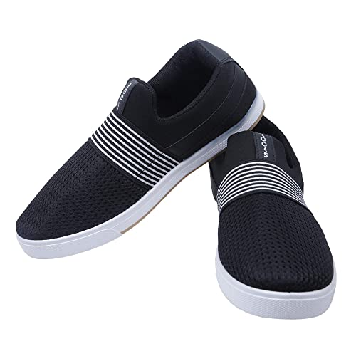 45dc3dee1 WELCOME Men Casual Black Running Shoes CN 04  Buy Online at Low Prices in  India - Amazon.in