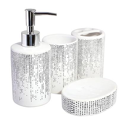 Merveilleux Modern, Stylish, Quality Ceramic Decorative Bathroom Accessory Set,  Including Liquid Dispenser, Tumbler