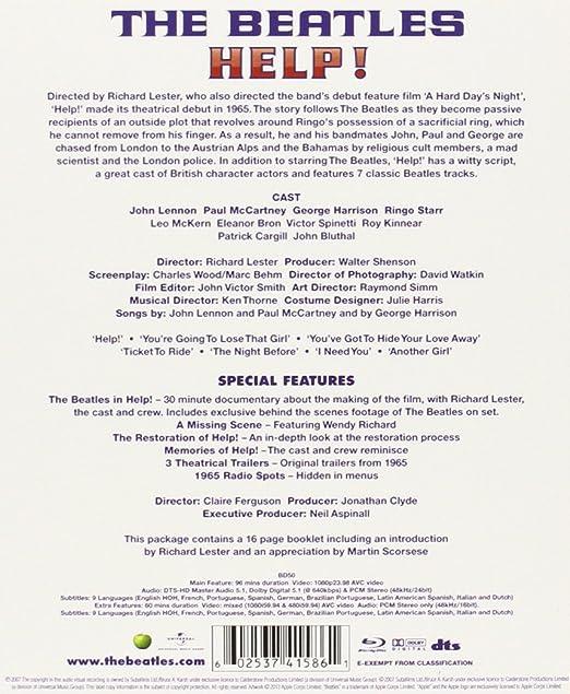 Amazon com: The Beatles: Help! [Blu-ray]: John Lennon, Paul