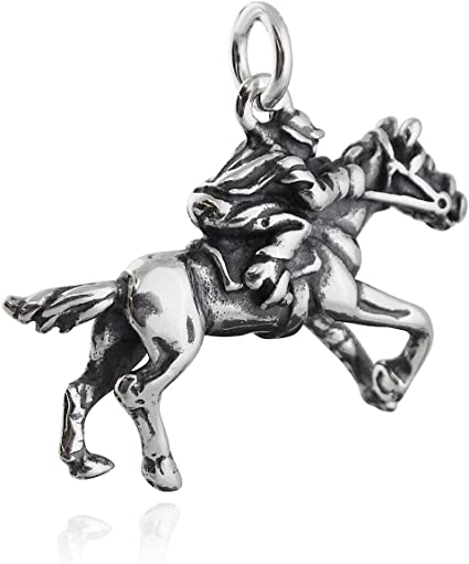 Beautiful Sterling silver 925 sterling Sterling Silver Race Horse Charm