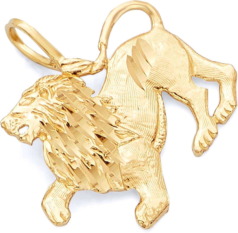 TWJC 14k Yellow Gold Puppy Pendant
