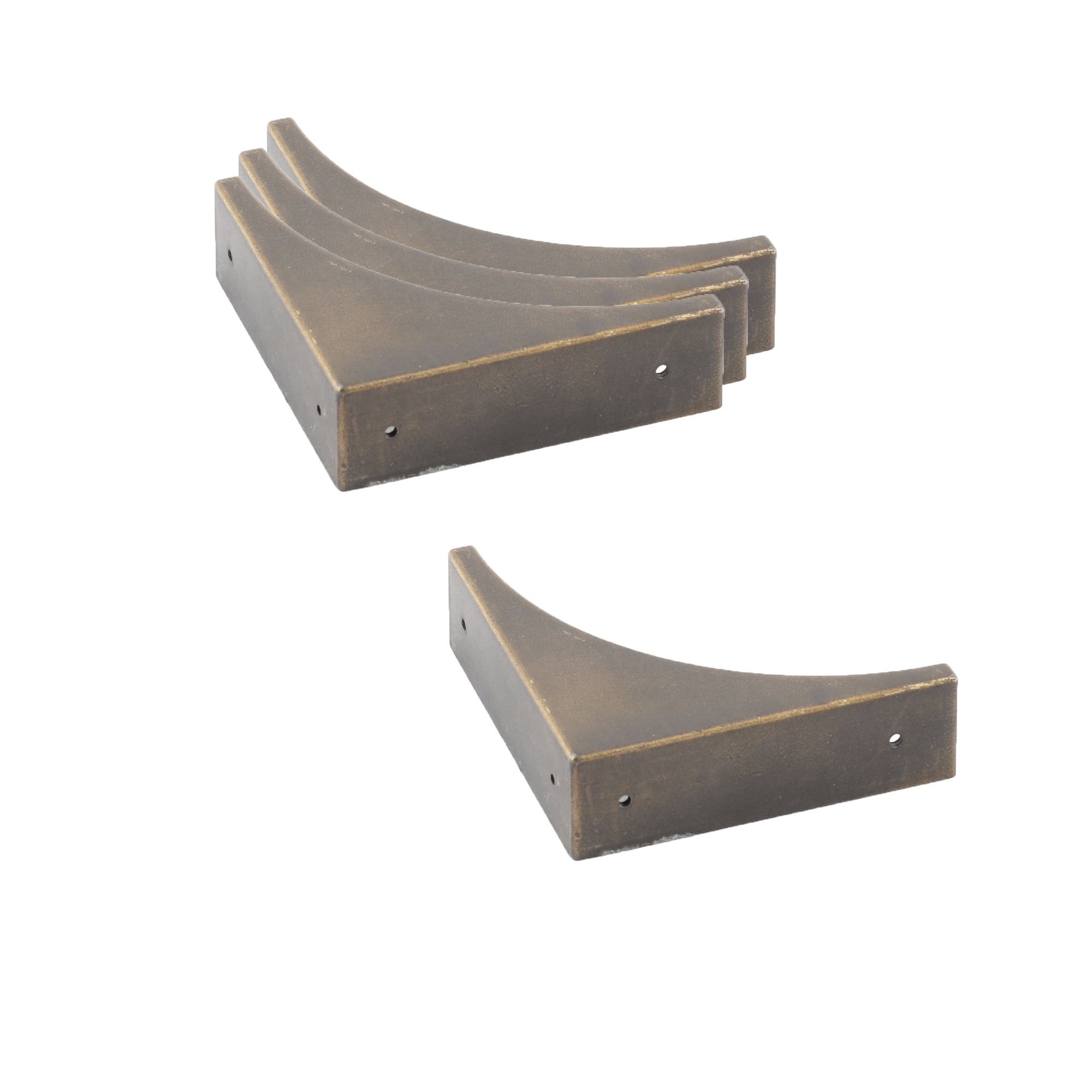 Antrader Metal Box Corner Protector Edge Safety Guard Bronze Tone 66 x 66mm Pack of 4