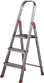 Escalera Rolser Aluminio Unica 3 Peldaños: Amazon.es: Bricolaje y herramientas