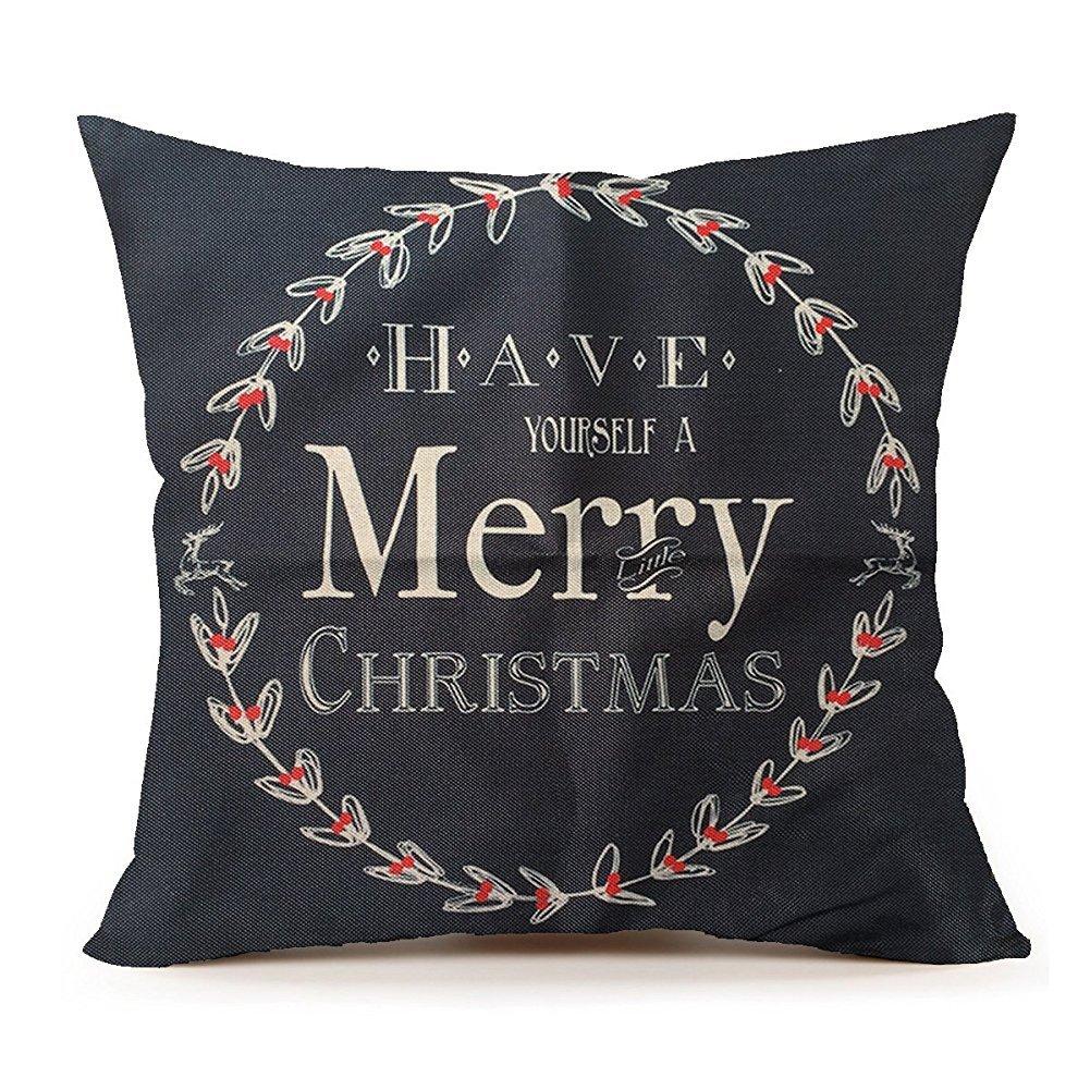 spxubzレッドサンタクロースクリスマス( Smile )枕カバー装飾ホーム装飾素敵なギフトスクエアインドア/アウトドア枕カバーサイズ: 18 x 18インチ(両面) 20x20 Inch B07CGLQZLB