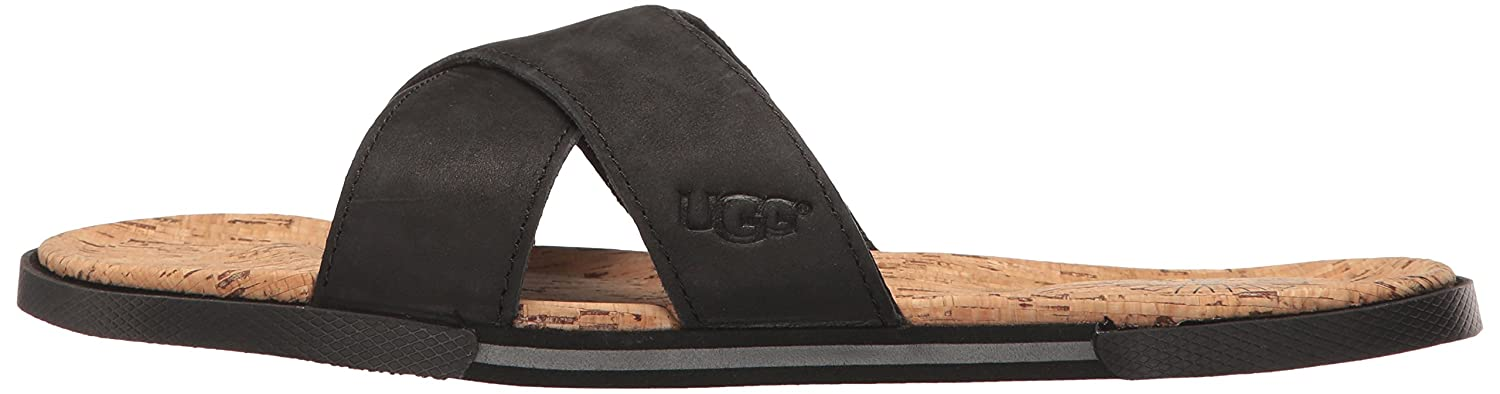 ed097fe6216 Amazon.com | UGG Men's Ithan Cork Flip Flop, Black, 8 US/8 M US ...