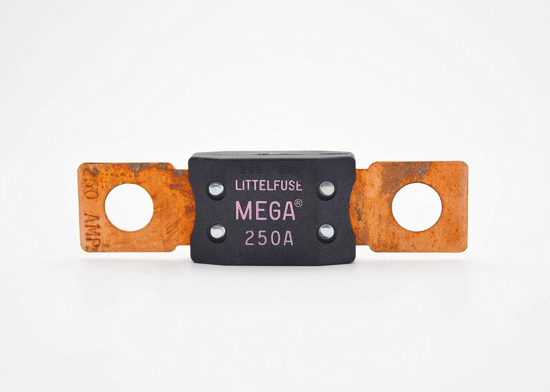 Littelfuse 0298250 Abschraubbare Auto Sicherung 250 A Zeitverzögerung 32 V 298 Serie Mega Auto Sicherung Gewerbe Industrie Wissenschaft