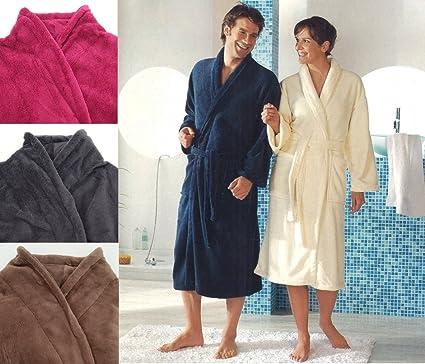 Albornoz de microfibra suave unisex, para sauna, ducha, estar en casa, modelo