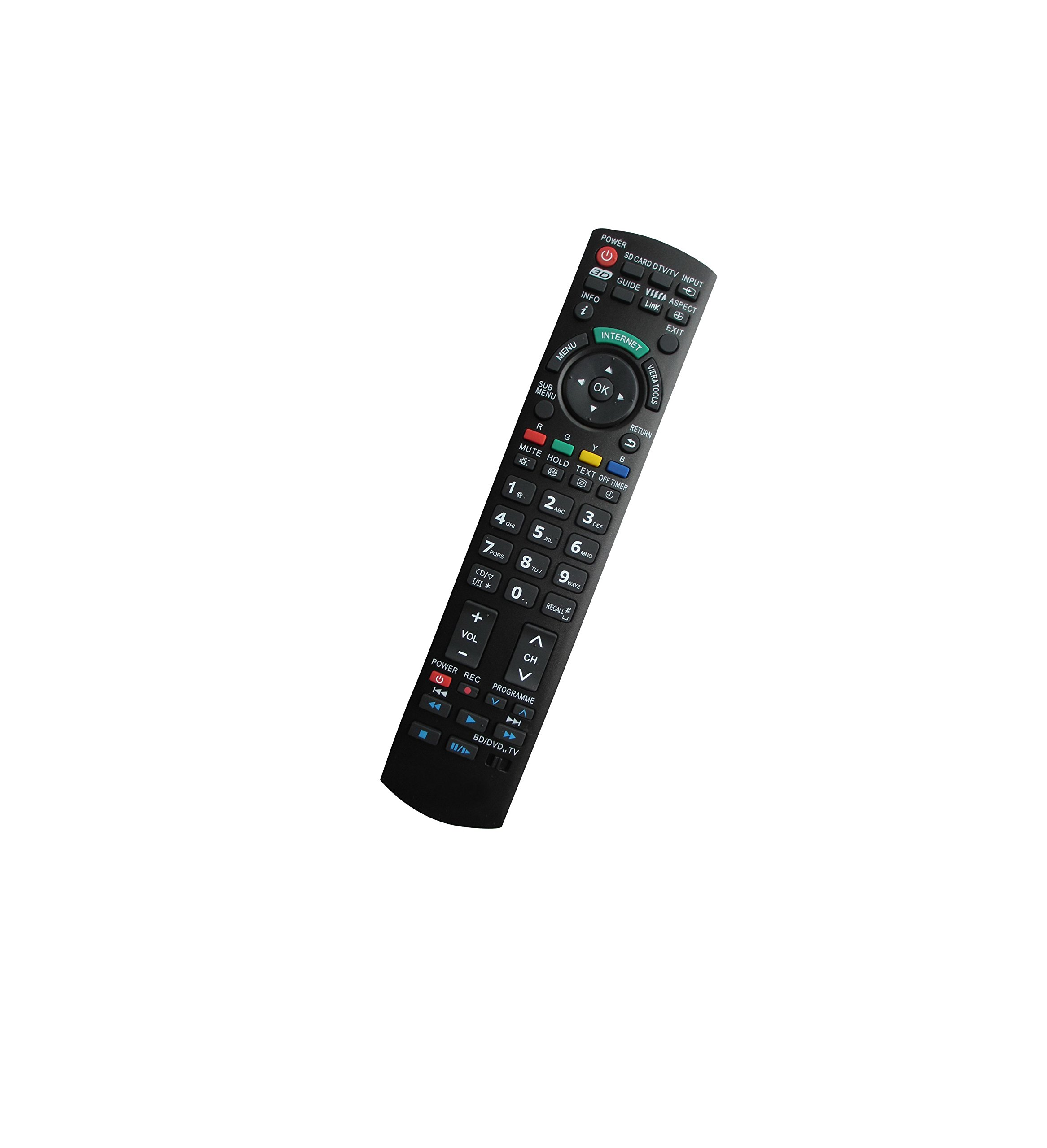 Universal Replacement Remote Control Fit For Panasonic PT-47WX42 PT-47WX42CF PT-61HX41E PT-56HX41 TC-L32C3 Plasma Viera LCD LED HDTV TV by HCDZ