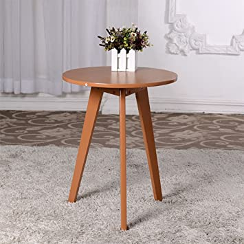 Table Pliante Lxf En Bois Massif Table Basse Table Ronde