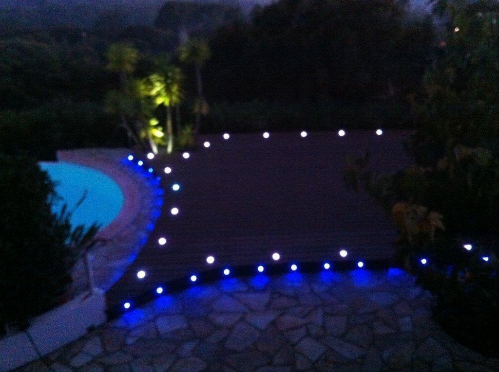 6x Lampe De Spot Encastrable Dc12v O45mm 1w Ip67 Led Pour Terrasse