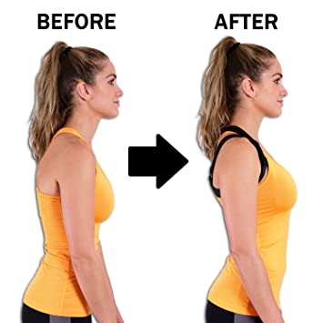 b8e82d5cea723 Posture Corrector Back Brace for Women and Men  Upper Back Clavicle Support  with FREE Resistance