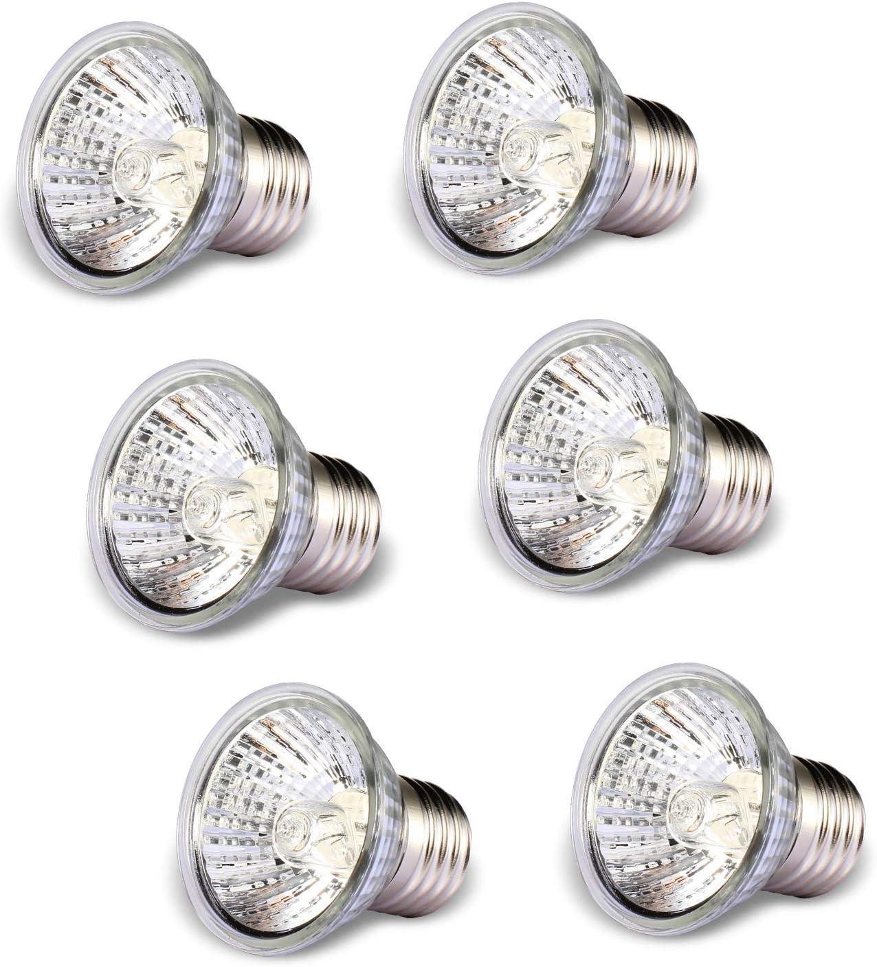 50W Sunbathe Basking lamp Heating Light Bulb 6 Pack