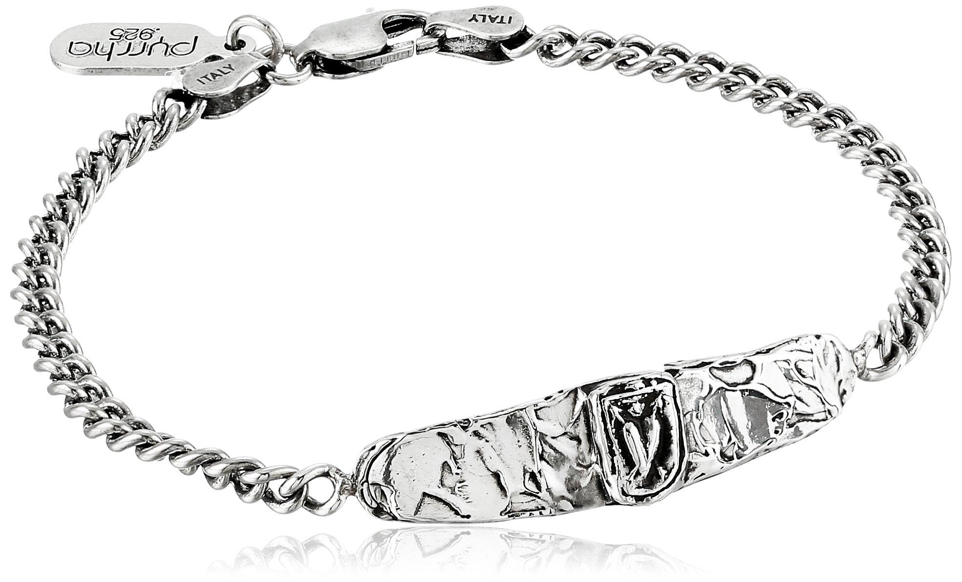 Pyrrha Unisex Cupid's Arrows Sterling Silver Identification Bracelet