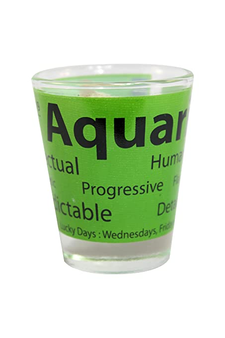Shot Glass Zodiac Sign - Aquarius (Jan 21 - Feb 19)