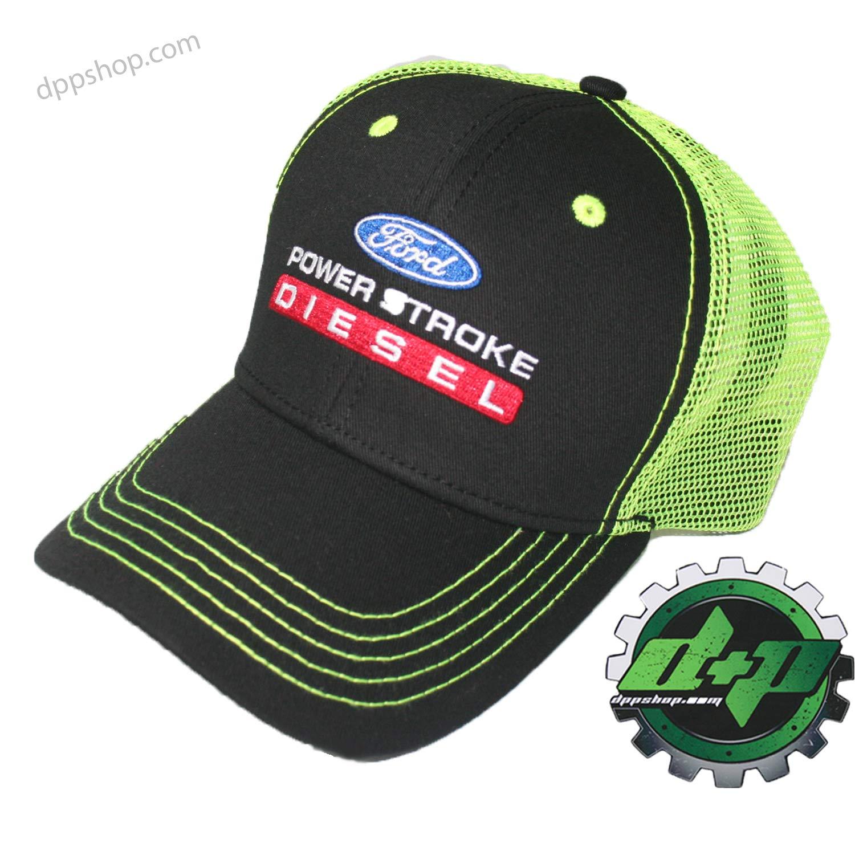 ce6cf8df1 neon Green meshball Cap hat Ford Powerstroke Diesel Super Duty Truck  Ballcap Power Stroke Gear