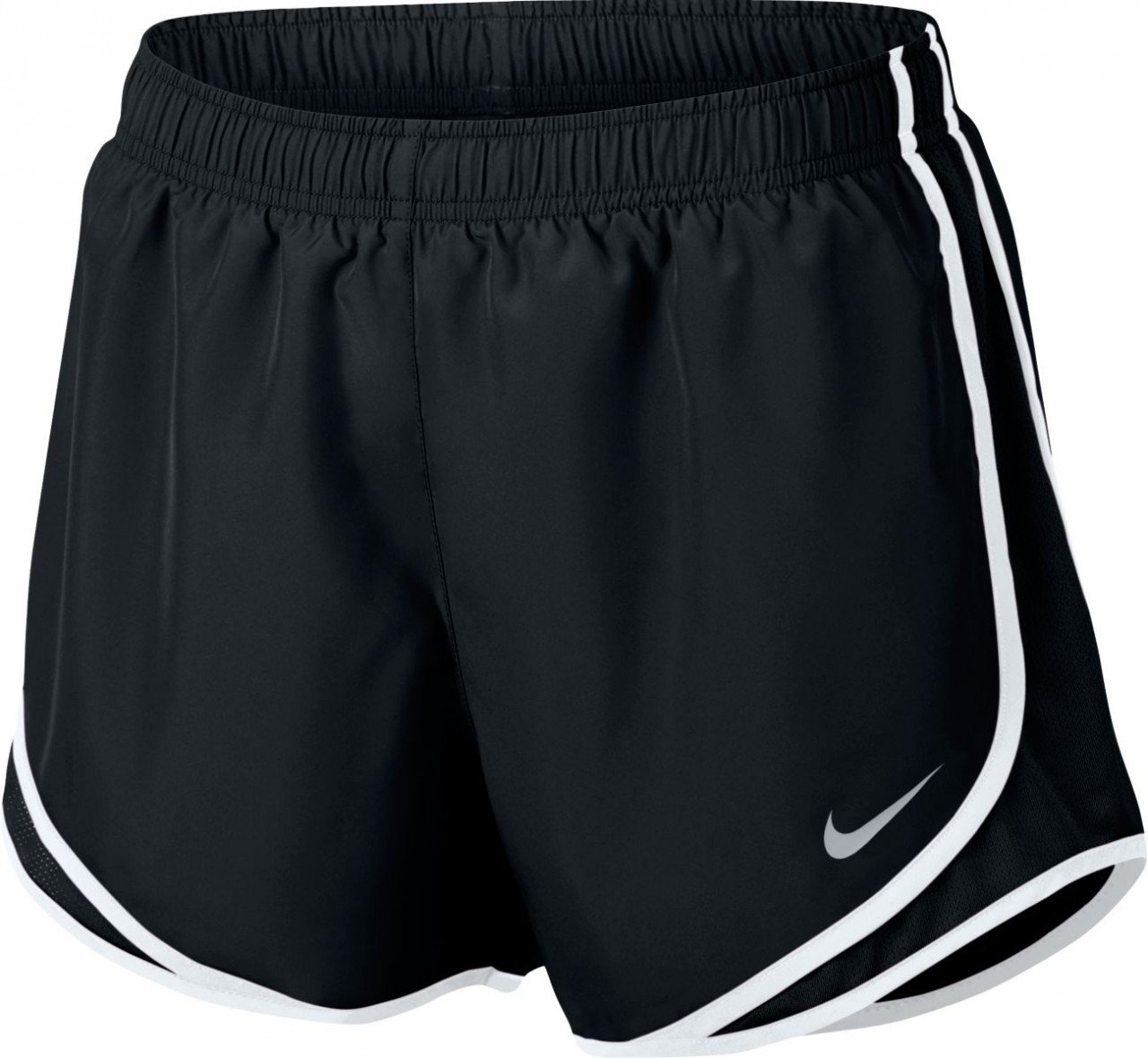 Nike Women's Dry Tempo Short, Black/White/Wolf Grey, Small