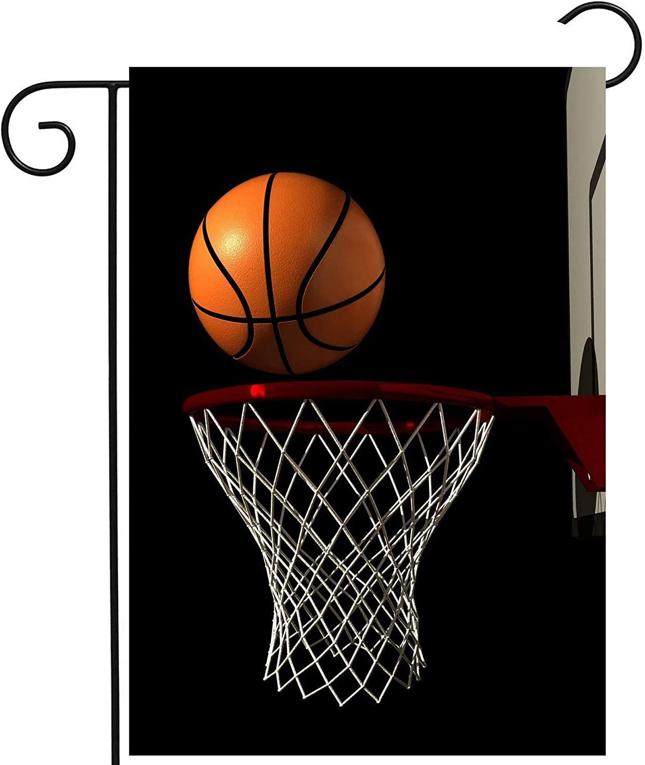 Amazon Com Jagfhhs Funny Basketball Goal Black Garden Flag Polyester Flag Banner Double Sided Printed 27 5x39 3 Inch Home Patio Yard Decor Garden Outdoor