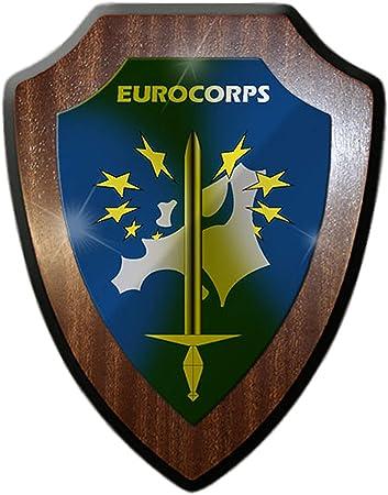 Euro Korps OTAN Bundeswehr nadadores Escudo Alemania Francia Bélgica España Luxemburgo Estrasburgo Emblema unidad Escudo Cartel # 19998: Amazon.es: Hogar