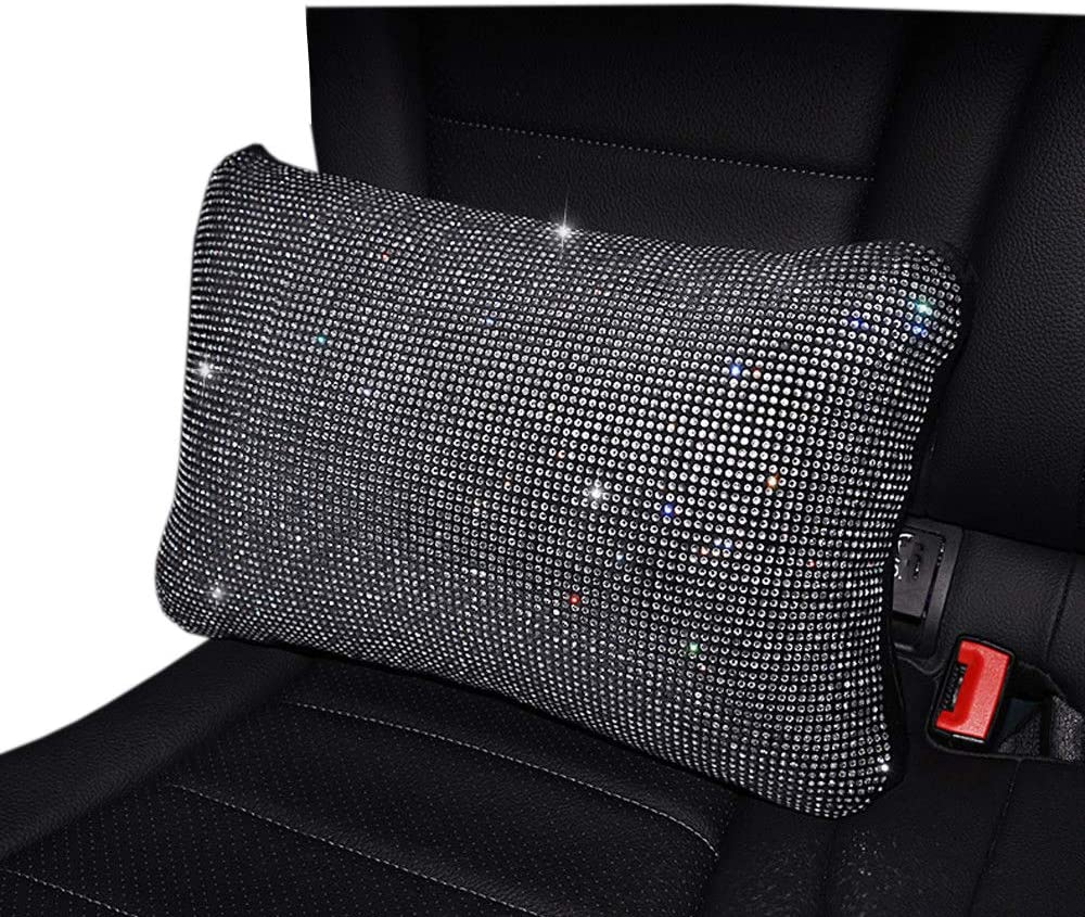 PillowCry Universal Sparkle Luxury Bling Bling Rhinestone Diamond Car Accessories New Gear Cover