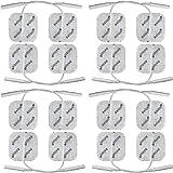 16 elettrodi pad 40x40mm, riutilizzabili. Per elettrostimolatori TENS EMS con attacco universale a spinotto da 2mm